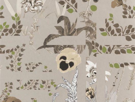 Переплетенные между собой ботанические узоры и графические линии на бронзовом фоне создают воплощение шикарного стиля Christian Lacroix отраженного на флизелиновых обоях Primavera Labyrinthum для комнаты, Histoires Naturelles, Обои для гостиной, Обои для спальни