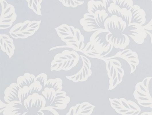 Флизелиновые обои для спальни, дизайн Berettino арт. PDG1020/06 из коллекции Majolica от Designers guild холодного голубого оттенка купить в салоне о-дизайн, Majolica, Обои для гостиной, Обои для спальни