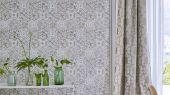 Купить Обои для спальни под плитку бежевого цвета , дизайн Pesaro арт. PDG1021/02 из коллекции Majolica от Designers guild в интернет-магазине