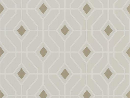 Флизелиновые обои для коридора дизайн Laterza арт. PDG1026/01 из коллекции Majolica от Designers guild с узором ромб и вставками бронзового цвета.Заказать с доставкой, Majolica, Обои для гостиной, Обои для кабинета