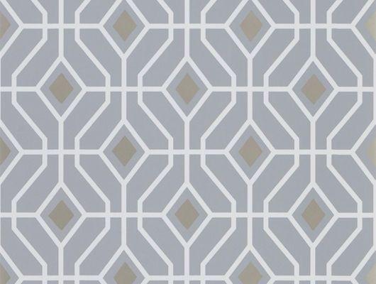 Флизелиновые обои, дизайн Laterza арт. PDG1026/06 из коллекции Majolica от Designers guild с геометрическим рисунком и металлическими элементами купить в салоне о-дизайн., Majolica, Обои для гостиной, Обои для кабинета