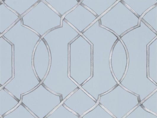 Купить Обои для спальни арт. PDG1027/02 из коллекции Majolica от Designers guild с геометрическим узором на сером фоне. Бесплатная доставка по России., Majolica, Обои для гостиной, Обои для кабинета, Обои для спальни