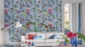 Заказать Флизелиновые фотообои Majolica для кабинета арт. PDG1028/01 из коллекции Majolica от Designers guild с крупным цветочным узором,насыщенных цветов.С бесплатной доставкой