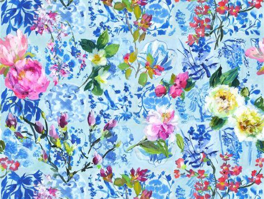 Заказать Флизелиновые фотообои Majolica для кабинета арт. PDG1028/01 из коллекции Majolica от Designers guild с крупным цветочным узором,насыщенных цветов.С бесплатной доставкой, Majolica, Обои для гостиной, Обои для спальни