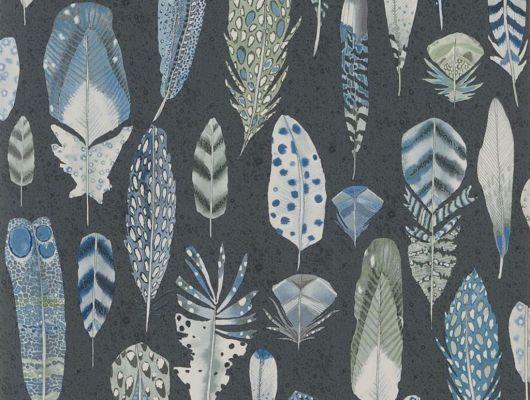 """Флизелиновые обои """"Quill"""" от Designers guild, арт.PDG1030/01. Обои с перьями купить в Москве.Для гостиной,спальни., Tulipa, Обои для кухни"""