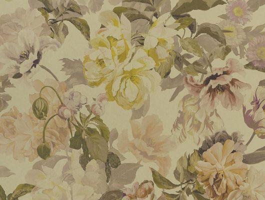 Дизайнерские обои флизелиновые Designers guild - Tulipa Stellata.Арт. PDG1033/02. Акварельный цветы на золотом фоне.Заказать с доставкой в Москве.Обои в спальню,гостиную, Tulipa, Обои для гостиной, Обои для спальни