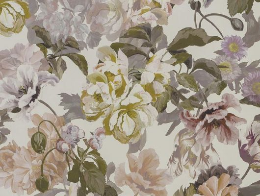 Дизайнерские обои флизелиновые Designers guild - Tulipa Stellata.Арт. PDG1033/03. Акварельный цветы на льняном фоне.Заказать с доставкой в Москве.Обои в спальню,гостиную, Tulipa, Обои для гостиной, Обои для спальни
