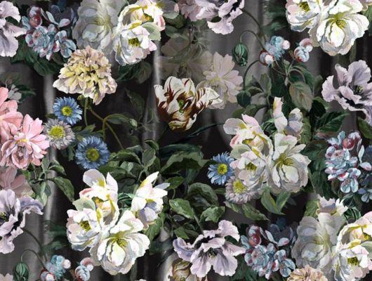 PDG1038/01 Панно флизелиновое Designers guild - Tulipa Stellata.Купить с доставкой в Москве.Растительный узор в интерьере. Для гостиной.Обои в квартиру., Tulipa, Обои для гостиной, Обои для кабинета