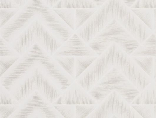 Стильные обои для столовой арт. PDG1049/04  из коллекции Mandora от Designers Guild, Великобритания с современным геометрическим принтом в стиле ар-деко в белом цвете. Приобрести в шоу-руме Одизайн в Москве, большой ассортимент, Mandora, Обои для гостиной, Обои для кухни, Обои для спальни