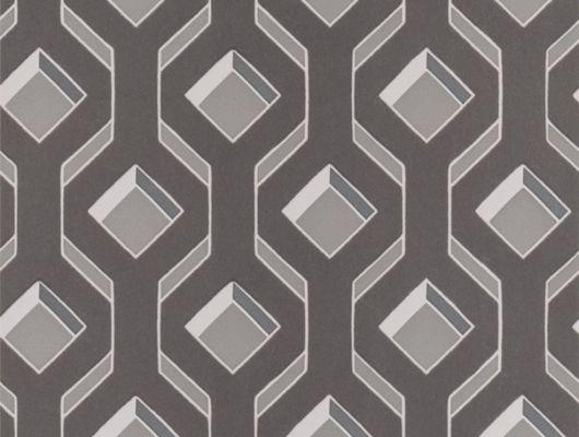 Заказать обои в спальню арт. PDG1053/03  из коллекции Mandora от Designers Guild, Великобритания с современным геометрическим принтом  в серых тонах  в интернет-магазине  Одизайн, онлайн оплата, Mandora, Обои для гостиной, Обои для спальни