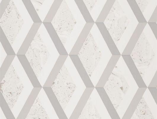 Обои в спальню арт. PDG1054/01  из коллекции Mandora от Designers Guild, Великобритания с современным геометрическим принтом в виде ромбов в серо-бежевых тонах. Купить в салоне обоев Одизайн в Москве, большой ассортимент, Mandora, Обои для гостиной, Обои для кабинета, Обои для кухни