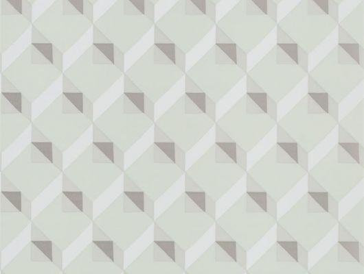Приобрести английские обои в коридор арт. PDG1055/04  из коллекции Mandora от Designers Guild, Великобритания с современным геометрическим рисунком  в светло-зеленом цвете  в шоу-руме в Москве, широкий ассортимент, Mandora, Обои для гостиной, Обои для кабинета, Обои для спальни