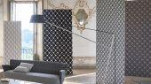 Заказать дизайнерские обои для ремонта квартиры арт. PDG1055/07  из коллекции Mandora от Designers Guild, Великобритания с современным геометрическим принтом  в серо-черных тонах на сайте Odesign, онлайн оплата, бесплатная доставка