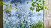Фотопанно арт. PDG1056/01  из коллекции Mandora от Designers Guild, Великобритания с изображением пейзажа в сине-голубых оттенках. Заказать  в интернет-магазине  Одизайн, онлайн оплата, бесплатная доставка