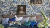 Обои в кабинет арт. PDG675/01  из коллекции Caprifoglio от  Designers guild, пр-во Великобритания с крупным цветочным принтом подобрать из большого ассортимента, в салоне о-дизайн.В интерьере