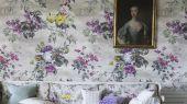 Купить Флизелиновое Панно в кухню , арт. PDG676/02, дизайн Caprifoglio  из коллекции Caprifoglio от  Designers guild,  на сером фоне разнообразие цветом.Посмотреть в салоне обоев. Фото в интерьере