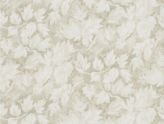 Английские Обои в кабинет арт. PDG679/04 из коллекции Caprifoglio от  Designers guild с бежевыми листьями выбрать в каталоге., Caprifoglio, Обои для гостиной, Обои для кабинета, Обои для кухни, Обои для спальни