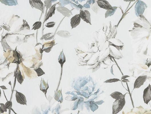 Подобрать обои флизелиновые  в спальню Couture Rose арт.PDG711/05 из коллекции Jardin Des Plantes от Designers guild  с голубыми розами в каталоге., Jardin Des Plantes, Обои для гостиной, Обои для кухни, Обои для спальни