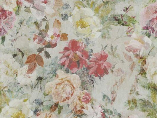 Выбрать Обои в гостиную арт. PDG712/03  из коллекции Jardin Des Plantes от Designers guild   с розами на сером фоне в каталоге., Jardin Des Plantes, Обои для гостиной, Обои для кабинета, Обои для кухни, Обои для спальни