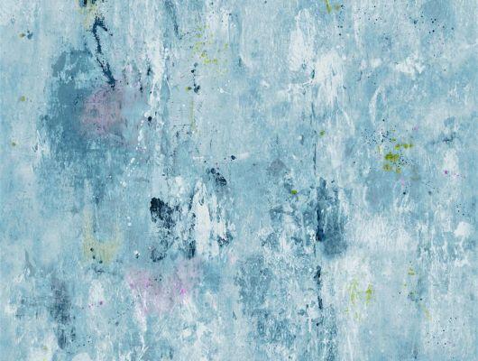 Заказать фотопанно в гостиную флизелиновое арт. PDG718/03 в голубом цвете,под штукатурку, дизайн Corneille из коллекции Jardin Des Plantes от Designers guild,пр-во Великобритания, с бесплатной дсотавкой., Jardin Des Plantes, Обои для гостиной, Обои для спальни