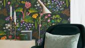 Прекрасные фотообои с растительным орнаментом для вашей гостиной