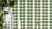 Игривый дизайн с зелеными листьями для вашей кухни.