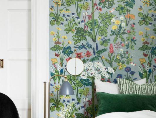 Фотопанно для спальни с потрясающим цветочным рисунком созданным по мотивам легендарного дизайнера, Scandinavian Designers II, Дизайнерские обои, Новинки, Обои для квартиры, Обои для спальни, Фотообои