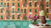 Флизелиновые обои пр-во Великобритания коллекция Seville от Cole & Son, рисунок под названием Piccadilly имитация керамической плитки в зеленом и белом цвете. Обои для кухни. Купить обои в интернет-магазине, бесплатная доставка, большой ассортимент