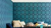 Флизелиновые обои пр-во Великобритания коллекция Seville от Cole & Son, рисунок под названием Piccadilly имитация керамической плитки в бирюзовом оттенке. Обои для кухни. Купить обои в интернет-магазине, бесплатная доставка, большой ассортимент