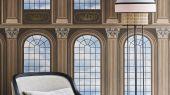 """Английские флизелиновые обои, арт. 118/5009 """"Verrio Sky"""", бренда Cole & Son , из коллекции Great Masters . Обои для гостиной с изображением арочных сводов,небесный фон придающий глубину и объём в пространстве, рисунок с золотым напылением. Купить в Москве с бесплатной доставкой, широкий ассортимент."""
