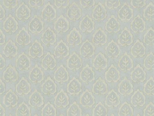 Выбрать дизайнерские обои с лиственным узором на  арт. 216897 в кабинет из коллекции Littlemore от Sanderson в салонах Москвы., Littlemore