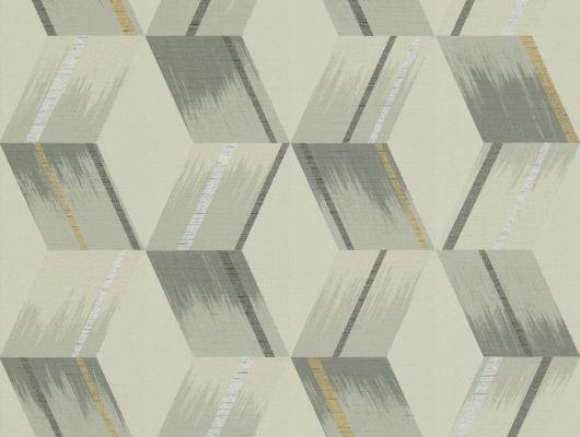 Геометрический рисунок в серебристо-бежевых тонах на недорогих обоях 312894 от Zoffany из коллекции Rhombi подойдет для ремонта гостиной, Rhombi, Обои для гостиной, Обои для кабинета