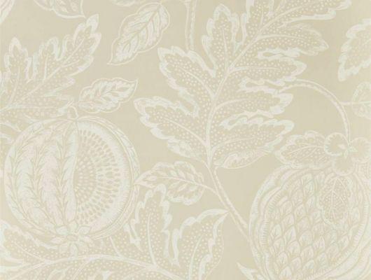 Выбрать английские обои Cantaloupe арт. 216760 из коллекции Caspian, Sanderson,  с представлением экзотических фруктов, вдохновленное влиянием дамаска и ботаническим рисунком в каталоге., Caspian, Обои для гостиной, Обои для кухни, Обои для спальни
