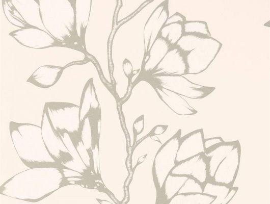 Заказать обои в прихожую арт. 112145 дизайн Lustica из коллекции Salinas от Harlequin, Великобритания с крупным рисунком цветов серебристого цвета  на пастельно-розовом фоне в салоне в Москве, бесплатная доставка, Salinas, Обои для гостиной, Обои для спальни