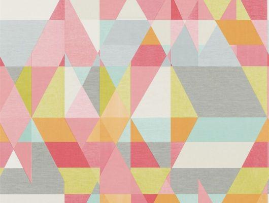 Купить обои для детской Axis с ярким геометрическим принтом из коллекции Esala от Scion в шоу-руме odesign, Esala, Обои для гостиной, Обои для кухни