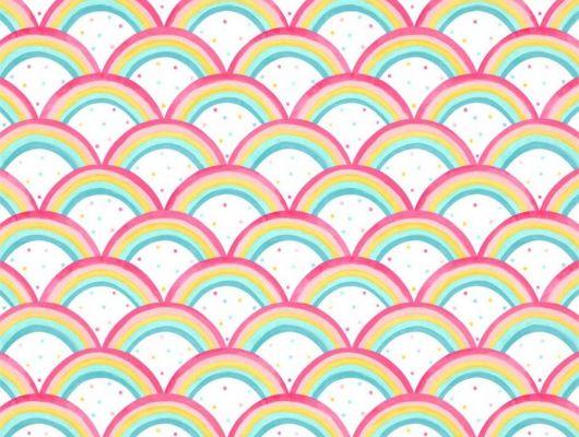 Продажа обоев для комнаты Rainbow Brights арт. 112645 от Harlequin с акварельным орнаментом из ярких радужных арок в салонах Москвы., Book of Little Treasures