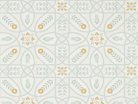 Продажа английских обоев для столовой арт. 216700 из коллекции Melsetter от Morris, Великобритания с геометрическим орнаментом зеленого  цвета на бежевом фоне в интернет-магазине в Москве, бесплатная доставка, Melsetter, Бумажные обои, Обои для гостиной, Обои для кухни, Обои для спальни