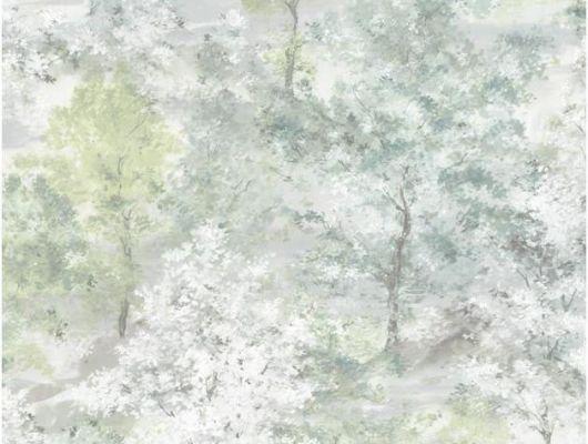 Флизелиновые обои Aura Global Fusion G56430.Обои с акварельным рисунком, зеленые, серые. Заказать с доставкой в Москве. Выбрать в каталоге в салоне., Global Fusion, Обои для гостиной, Обои для спальни