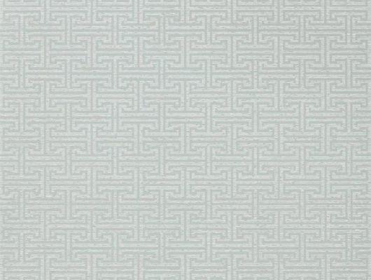 Купить обои для ремонта квартире арт. 312937 дизайн Ormonde Key из коллекции Folio от Zoffany, Великобритания с геометрическим рисунком серого цвета в шоу-руме в Москве, Folio, Обои для гостиной, Обои для спальни