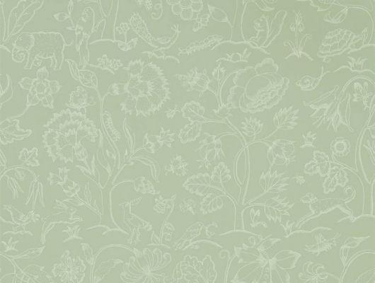 Выбрать бумажные обои для кухни арт. 216694 из коллекции Melsetter от Morris, Великобритания с изображением животных и насекомых в интернет-магазине с доставкой., Melsetter, Бумажные обои, Обои для гостиной