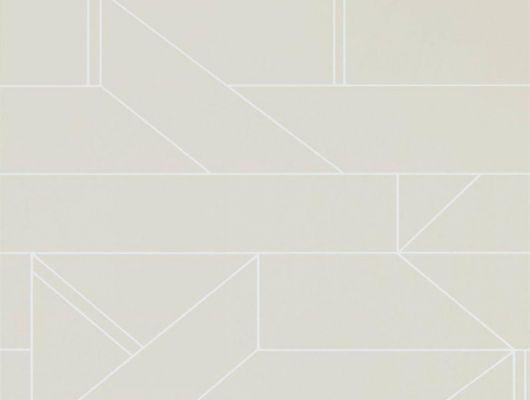 Заказать обои в гостиную арт. 112014 дизайн Barbican из коллекции Zanzibar от Scion, Великобритания с современным геометрическим принтом белого цвета на серо-коричневом фоне в шоу-руме в Москве с бесплатной доставкой, Zanzibar, Обои для гостиной, Обои для спальни