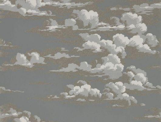 Изящные облака в сумерках создают ночное очарование на флизелиновых обоях для спальни дизайн Silvi Clouds арт. 216603 от Sanderson можно посмотреть купить с доставкой до дома, Elysian, Обои для гостиной, Обои для спальни