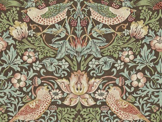 Купить обои бумажные дизайн Strawberry Thief арт. 216868 из коллекции Compilation Wallpaper от Morris , Великобритания, Compilation Wallpaper, Обои для гостиной, Обои для кабинета, Обои для спальни