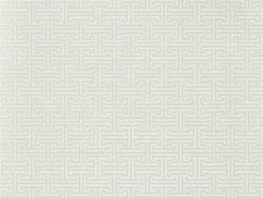 Заказать обои в прихожую арт. 312936 дизайн Ormonde Key из коллекции Folio от Zoffany, Великобритания с геометрическим рисунком светло-серого цвета в шоу-руме в Москве, недорого, Folio, Обои для гостиной, Обои для спальни