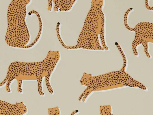 Выбрать флизелиновые обои Lionel с леопардами из коллекции Esala от Scion на сате odesign.ru, Esala, Обои для гостиной