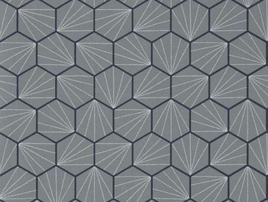 Выбрать дизайнерские обои Aikyo с геометрией в цвете графит из коллекции Japandi  от Scion в каталоге, Japandi, Обои для гостиной, Обои для кабинета, Обои для спальни