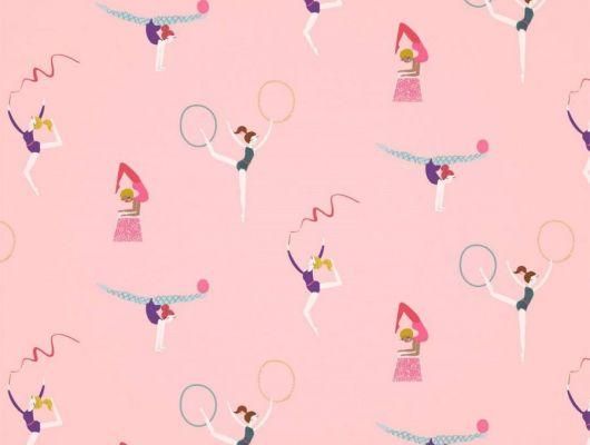Заказать обои в ягодных оттенках Balancing Act арт. 112644 от Harlequin с гимнастами и танцорами на сайте odesign.ru., Book of Little Treasures