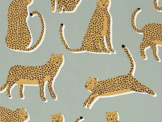 Обои для спальни Lionel с животными на ером фоне из коллекции Esala от Scion заказать с доставкой, Esala, Обои для гостиной, Обои для спальни
