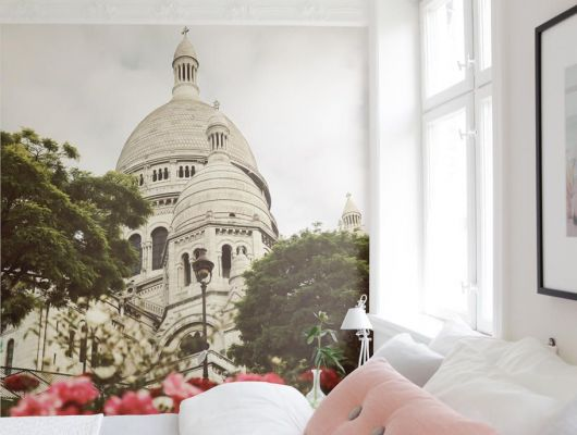 """Романтичные фотообои """"Выходи за меня"""" с изображением базилики Сакре-Кёр купить в Москве, City of Romance, Обои для спальни, Фотография, Фотообои"""