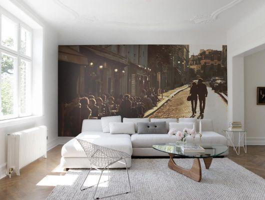 Обои art E030801-8 Флизелин Mr Perswall Швеция, City of Romance, Индивидуальное панно, Обои для гостиной, Флизелиновые обои, Фотография, Фотообои